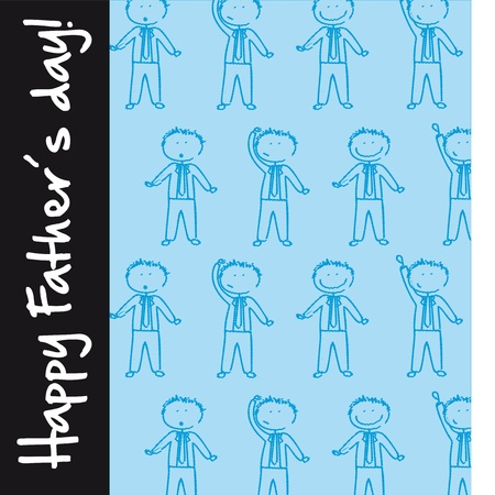 happy fathers day with cute businessman. vector illustration Vector