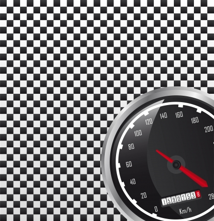 rotations: car speedometer with space for copy. vector illustration
