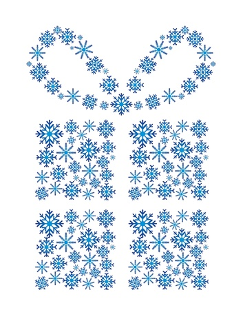 gift with snowflakes isolated over white background. vector Stock Vector - 13755298