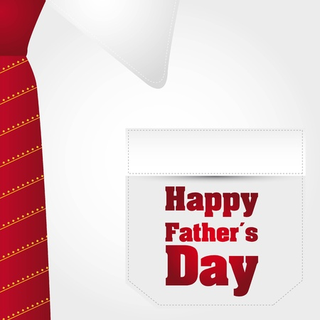 happy fathers day text over business t shirt background. vector Stock Vector - 13755259