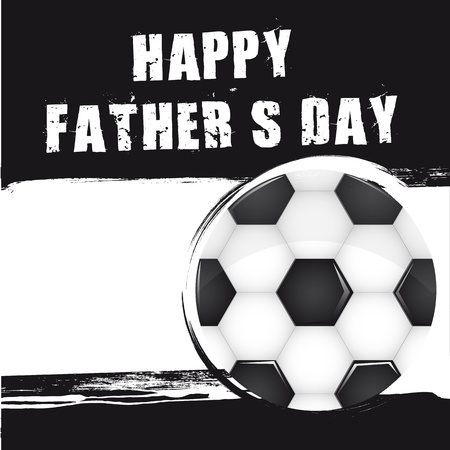 soccer ball over grunge background, fathers day. vector Vector