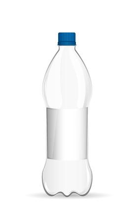 botellas vacias: botella de pl�stico con sombra sobre fondo blanco. vector