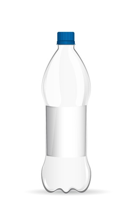plastic bottle with shadow over white background. vector Vector