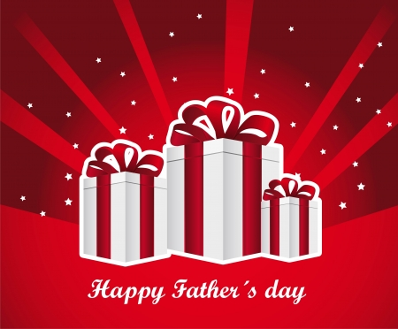 happy fathers day card with gifts. vector illustration Stock Vector - 13755235