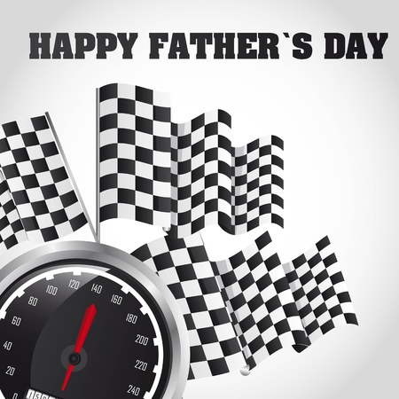 speed racing, happy fathers day card. vector illustration Vector