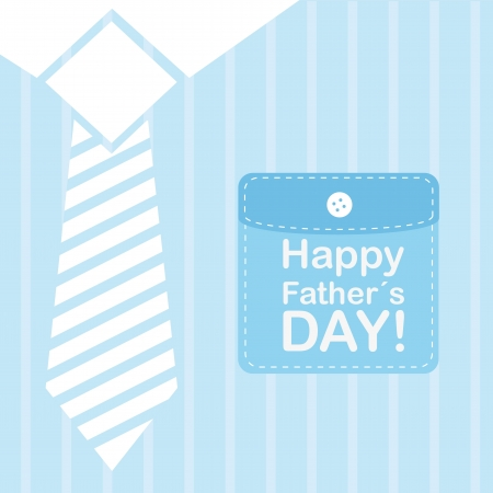 fathers day background: blue businessman t shirt background. vector illustration