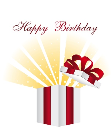 gift with stars, happy birtday. vector illustration Stock Vector - 13755193