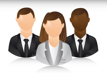 business people with shadow illustration Vector