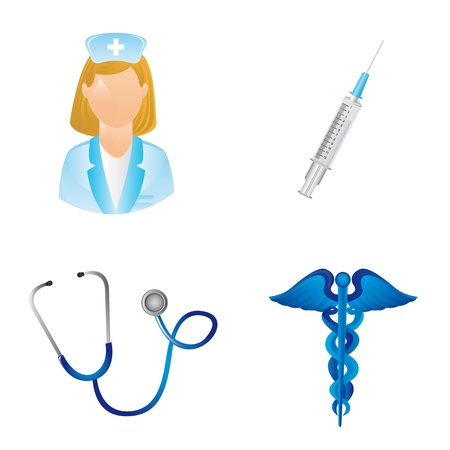 stethascope: medical icons isolated over white background.