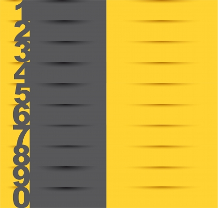 yellow and gray design templates with numbers.  Vector