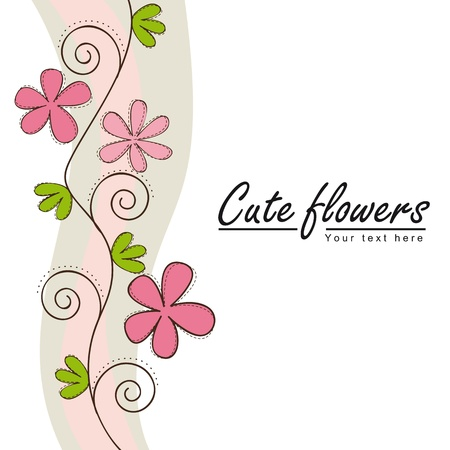 cute flowers with space for copy.