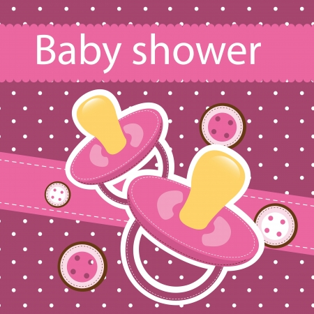 baby shower card, background.  Stock Vector - 14038942