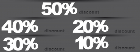 gray discounts tags.  Vector