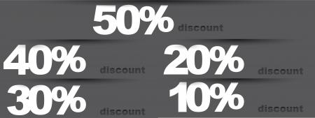 gray discounts tags. Stock Vector - 14038871