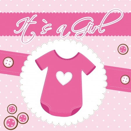 baby shower card with clothes baby.  Vector