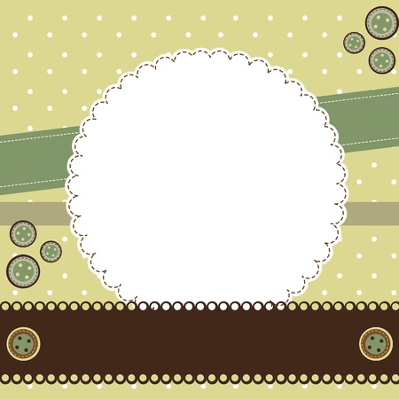 scrapbook vintage with space for copy.  Vector
