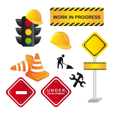 traffic signs isolated over white background. Stock Vector - 14039081