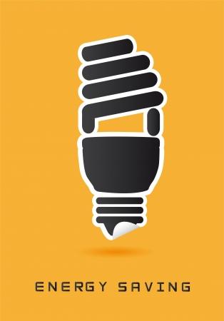 filament: light blub icons over yellow background.  Illustration
