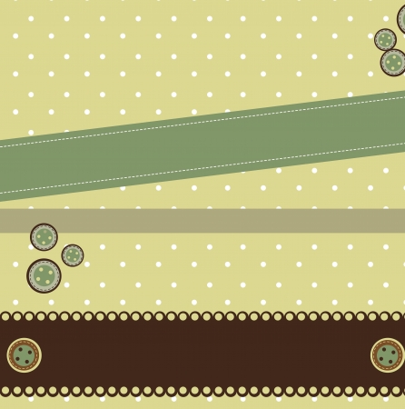 green vintage scrapbook background.  Vector