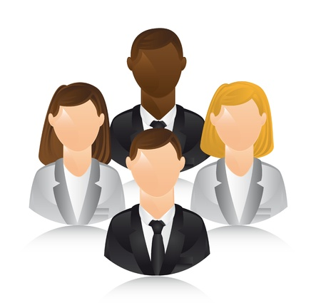 business people over white background.  Vector