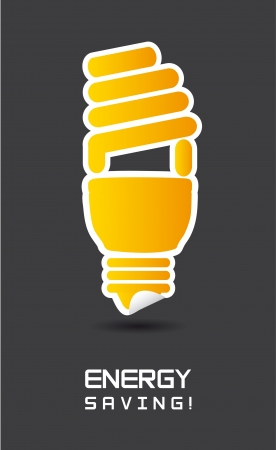 energy saving over gray background. Vector