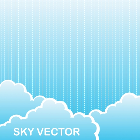 prognosis: sky with cloud and space for copy. Illustration