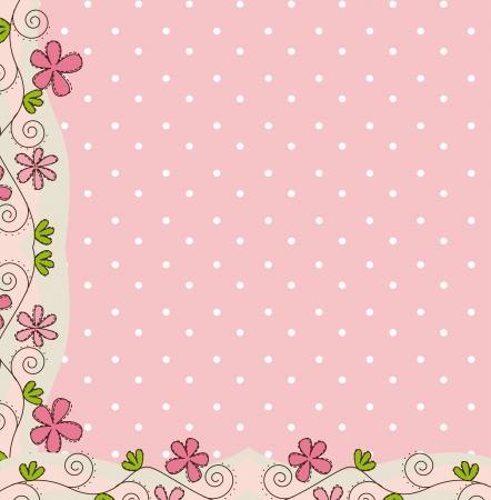 roze schattige achtergrond met bloem.