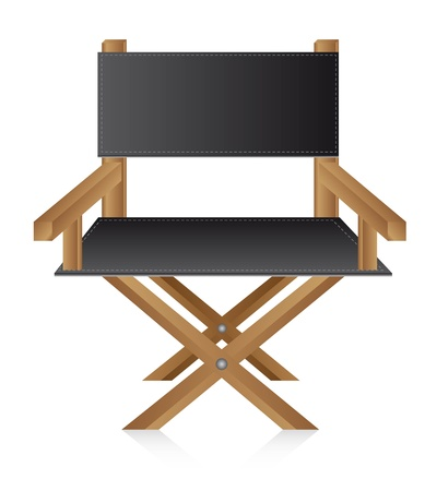 director chair: director chair over white background, movie. vector Illustration