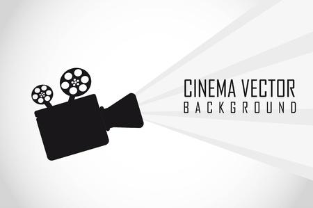silueta de proyector de películas con un espacio para la copia. vector