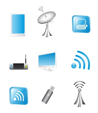 Wireless Technology and communication icons. vector Stock Vector - 14082075