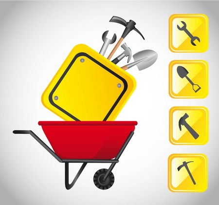 tools construction: tools construction with icons. vector illustration