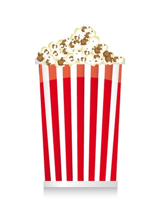 pop corn with shadow over white background. vector  illustration Stock Vector - 14074396