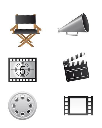 предмет коллекционирования: Кино элементов, изолированных на белом фоне. вектор
