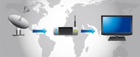 wireless communication: Wireless Technology and communication icons. vector