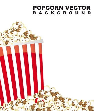 pop corn with space for copy. vector illustration Vector