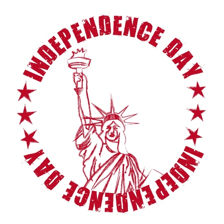independence day seal with statue liberty. vector illustration Vector