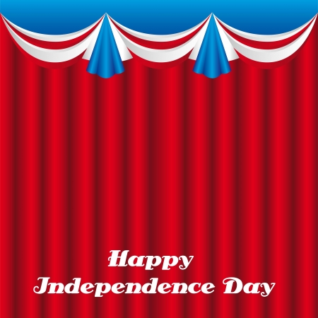 independence day over curtain background Vector