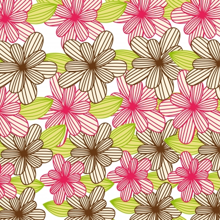 pink and brown cute flowers background Stock Vector - 14215122