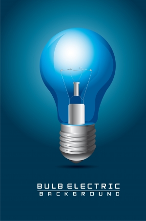 blue bulb electric over blue background Stock Vector - 14321969