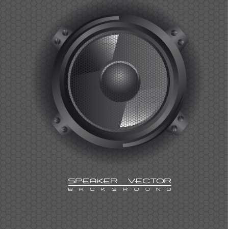 black speaker over grille speakers Vector