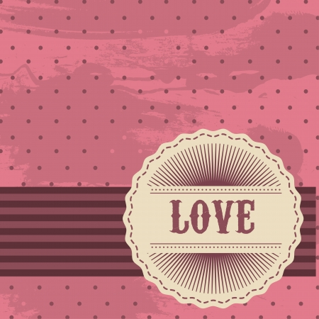 love tag over pink grunge background Stock Vector - 14322048