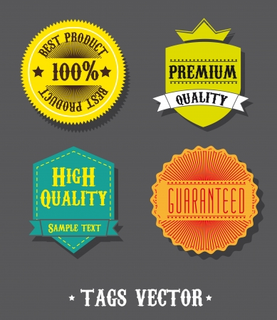 colorful tags over gray background Vector