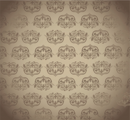 brown ornament background Vector