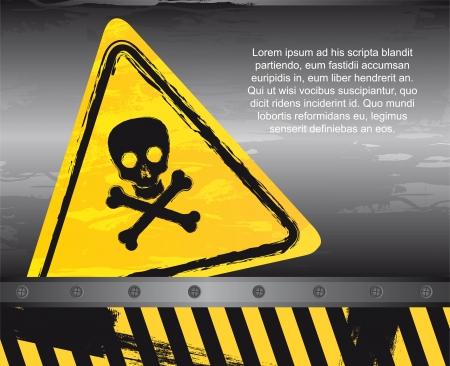 danger sign over grunge background Stock Vector - 14322072