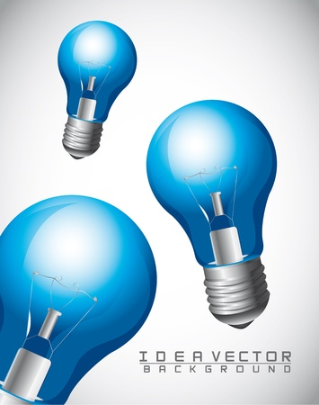 blue bulb electric over gray background, idea Stock Vector - 14321979