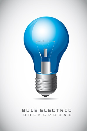 blue bulb electric over gray background Stock Vector - 14322092