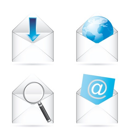 communication icons with shadow Stock Vector - 14322103