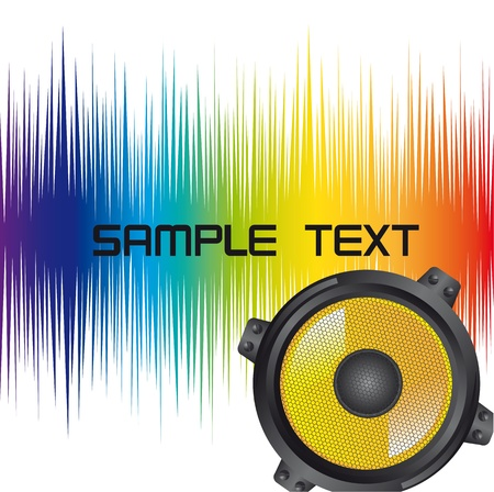 colorful speaker with space for copy Vector