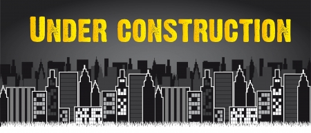under construction with city. vector illustration Vector