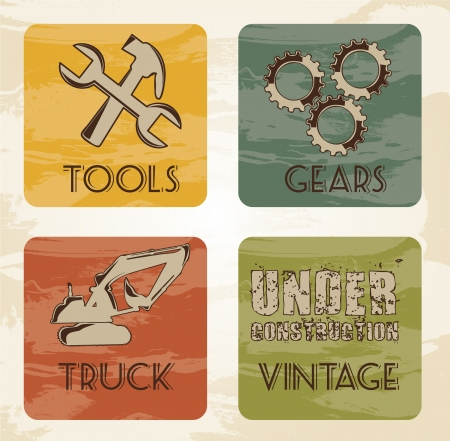 tools and truck vintage Stock Vector - 14322158